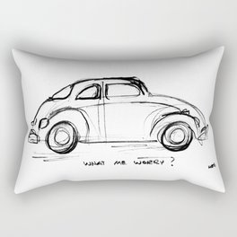 Bug - What Me Worry? Rectangular Pillow