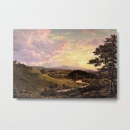 View Near Stockbridge, Massachusetts by Frederic Edwin Church Metal Print