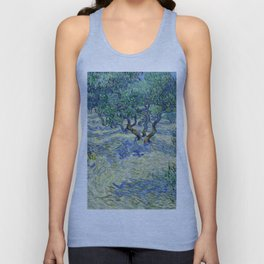 Olive Orchard by Vincent van Gogh Unisex Tank Top