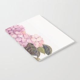 watercolor pink hydrangea Notebook