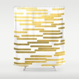 Gold Bars - trendy hipster gold foil shiny sparkle gilded gold bars money art print phone case  Shower Curtain