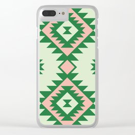 Navajo motif with watermelon pallet Clear iPhone Case
