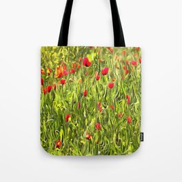 Surreal Hypnotic Poppies Tote Bag