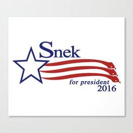 Snek For President 2016 Canvas Print