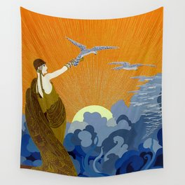"""Wings of Victory"" Art Deco Design Wall Tapestry"