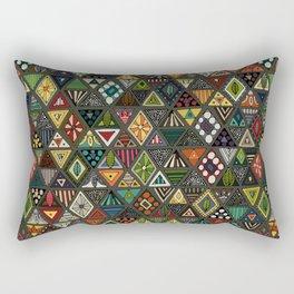 sun bear geo dark Rectangular Pillow