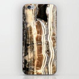 Creamy Caramel and Chocolate Fudge Marble Pattern iPhone Skin