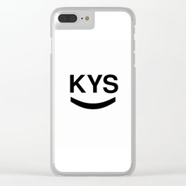 KYS SMILE Clear iPhone Case