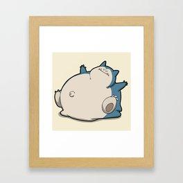 Pokémon - Number 143 Framed Art Print