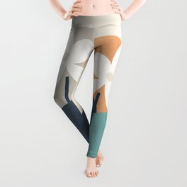 Abstract Flowers 3 Leggings