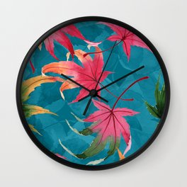 Colorful watercolor flowers No2 Wall Clock