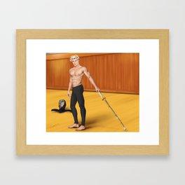 kendo practice partner Framed Art Print