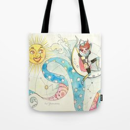 À travers la mer Tote Bag