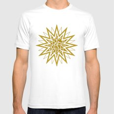 Star (gold) Mens Fitted Tee White MEDIUM