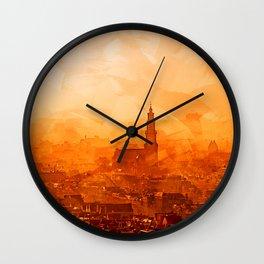 Amsterdam - City View Sunset Wall Clock