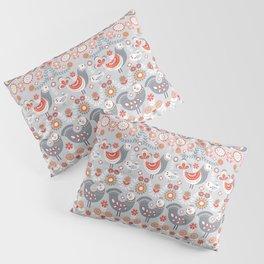 Seamless pattern with flowers. The Scandinavian style. Folk art. Pillow Sham