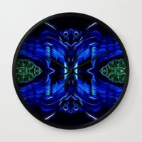malachite Wall Clocks featuring Azurite - Malachite by Lucia