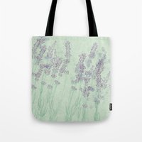 lavender Tote Bags featuring Lavender by Dana Martin