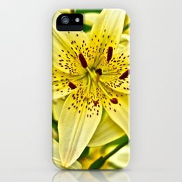 Yellow Tiger Lilies - The Flower Collection iPhone Case