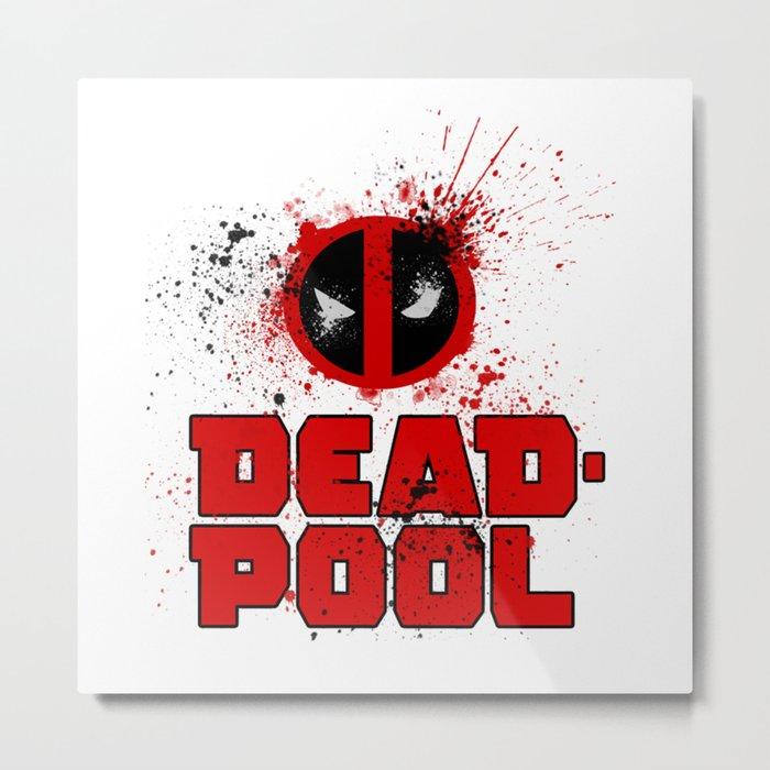DeadPool Logo Metal Print
