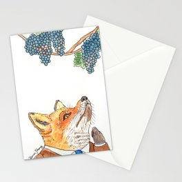 Sour Grapes Stationery Cards