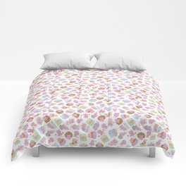 Blushy Attack! White Version Comforters