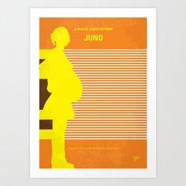 No326 My JUNO minimal movie poster Art Print