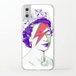 Queen Elizabeth / Aladdin Sane Clear iPhone Case