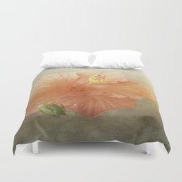 Warm Hibiscus Duvet Cover