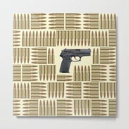 Gun and bullets Metal Print