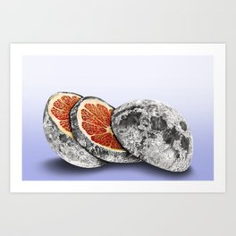 In which there is a mandarin in the moon Art Print