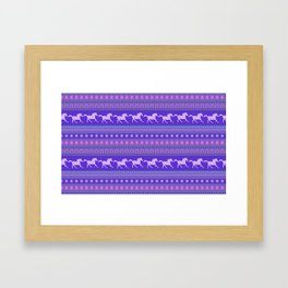 Horse Pattern Framed Art Print