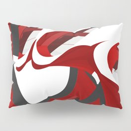 A red opening Pillow Sham