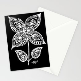 White Flowers 110 Stationery Cards