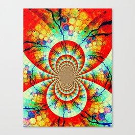 Fractal Suns Converging Canvas Print