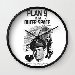 Plan 9 from Outer Space Wall Clock