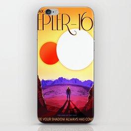 Vintage poster - Kepler-16b iPhone Skin