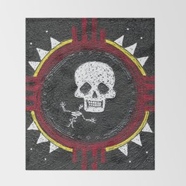 Zia Skeleton Throw Blanket