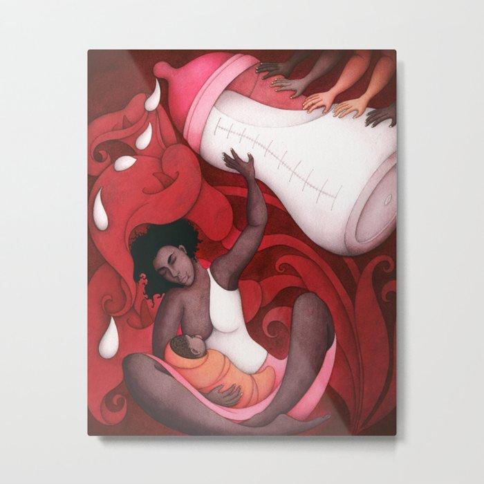 Breastfeeding and African-American Women Metal Print