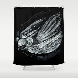 Flight in Midnight Shower Curtain