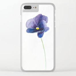Indigo Smile Clear iPhone Case