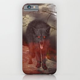 Awesome wolf iPhone Case