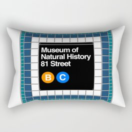 subway natural history sign Rectangular Pillow