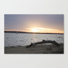 Sunset Sailing Canvas Print