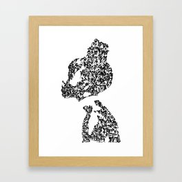 Kanji Calligraphy Art :woman's face #20 Framed Art Print