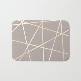 Elegant rose gold pattern Bath Mat