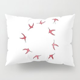 RED BIRDS Pillow Sham