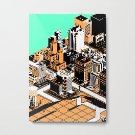 SimCityscape 02B Metal Print