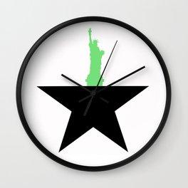 NYC Lady Liberty Hamilton Werk Schuyler Sisters Wall Clock
