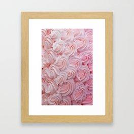 Blush Pink Frosting Framed Art Print